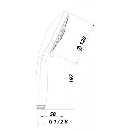 Лейка душевая LEMARK LM0315C 5-функциональная