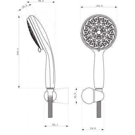 Комплект аксессуаров LEMARK LM0803C для душа