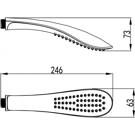 Лейка душевая LEMARK LM8006C 1-функциональная