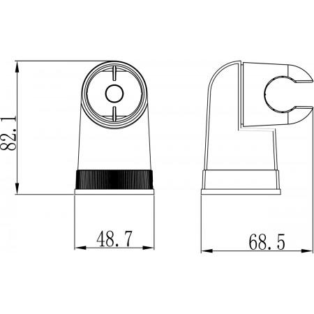 Крепление настенное LEMARK LM8009C поворотное для лейки