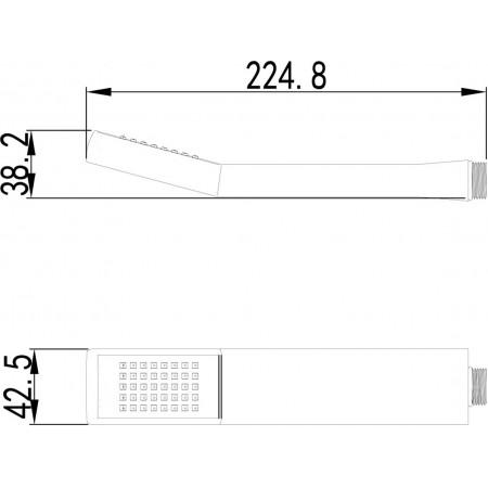 Лейка душевая LEMARK LM8011C 1- функциональная