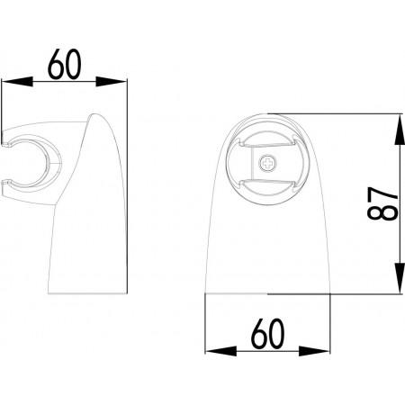 Крепление настенное LEMARK LM8012C поворотное для лейки
