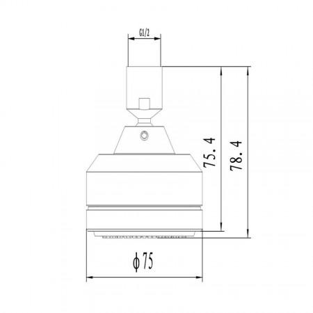 Лейка LEMARK LM8023C для верхнего душа 1-функциональная