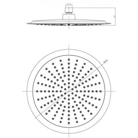 Лейка LEMARK LM8034C для верхнего душа 1-функциональная