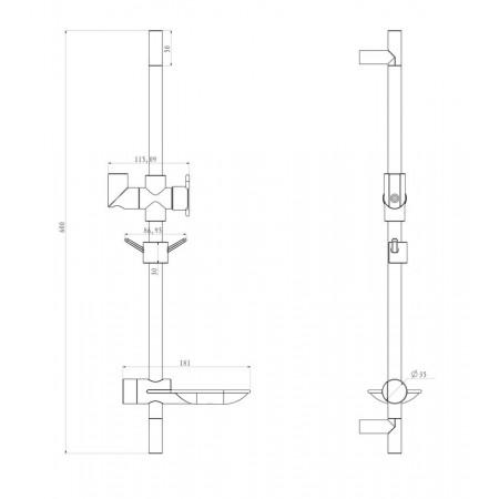 Стойка для душа LEMARK LM8062C с мыльницей