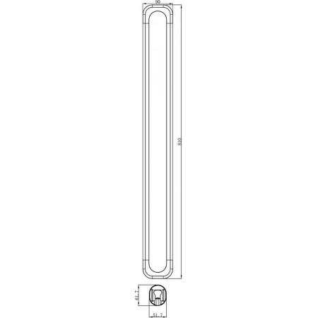 Стойка для душа LEMARK LM8074C с магнитным креплениемдля душевой лейки