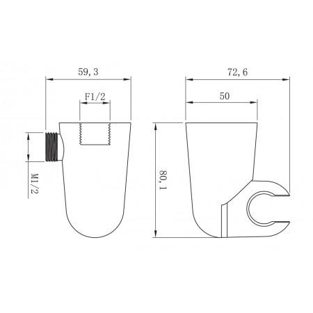 Подключение для душевого шланга LEMARK LM8084С встраиваемое