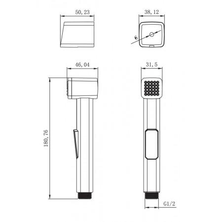 Комплект для биде LEMARK LM8089С с гигиеническим душем