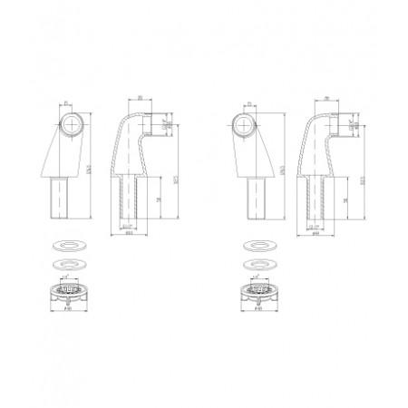 Комплект переходников LEMARK LM8556BR для установки смесителя на борт ванны