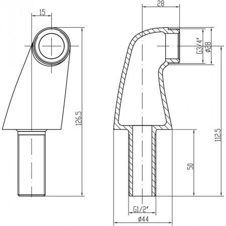 Комплект переходников LEMARK LM8556СR для установки смесителя на борт ванны