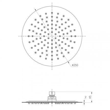 Лейка LEMARK LM9481S для верхнего душа 1-функциональная