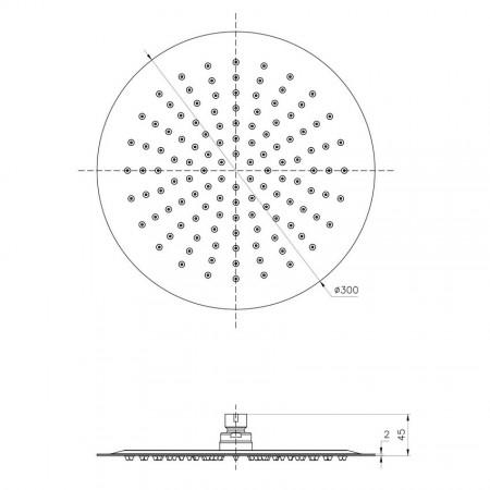 Лейка LEMARK LM9482S для верхнего душа 1-функциональная