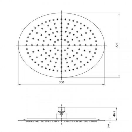 Лейка LEMARK LM9484S для верхнего душа 1-функциональная